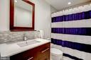 Totally-renovated full bath on upper level - 11012 BURYWOOD LN, RESTON