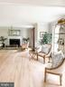 Living room with fireplace. - 37175 ADAMS GREEN LN, MIDDLEBURG
