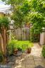 backyard patio and garden - 1426 SWANN ST NW, WASHINGTON