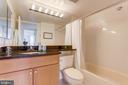 Hallway bathroom.  Granite countertops! - 2230 GEORGE C MARSHALL DR #827, FALLS CHURCH