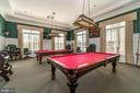 Billiards room in clubhouse - 20441 ISLAND WEST SQ, ASHBURN