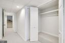Storage closet in lower level--doors open. - 116 S PITT ST, ALEXANDRIA