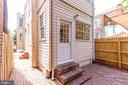 Access patio from rear or side doors. - 116 S PITT ST, ALEXANDRIA