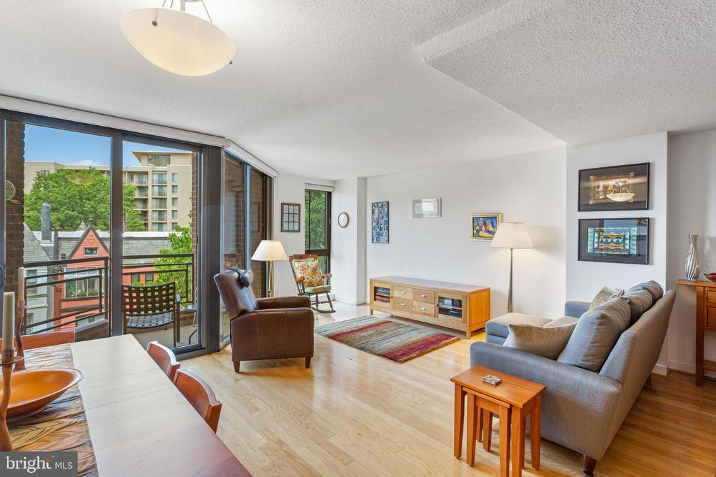 Living Room with Balcony - 1099 22ND ST NW #608, WASHINGTON