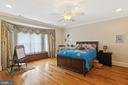 Bedroom #1 With Hardwood Floors & Ceiling Fan - 3722 HIGHLAND PL, FAIRFAX