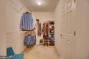 HUGE master closet - 147 SANFORD FERRY CT, FREDERICKSBURG