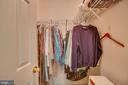 bedroom 1 walk in closet - 147 SANFORD FERRY CT, FREDERICKSBURG