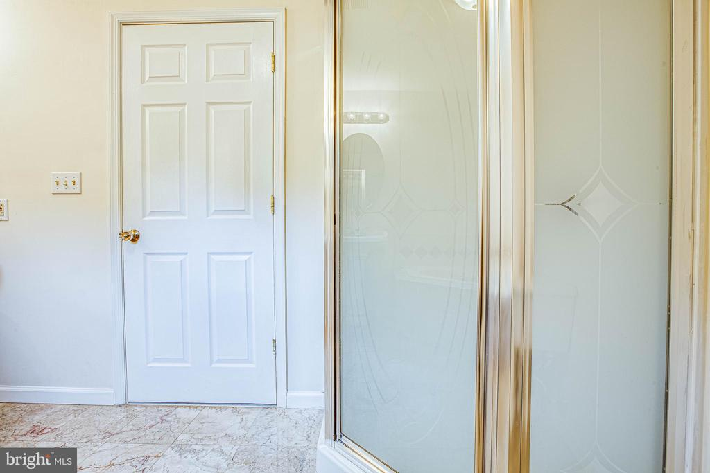 Separate shower in master en suite - 10905 DEERFIELD DR, FREDERICKSBURG
