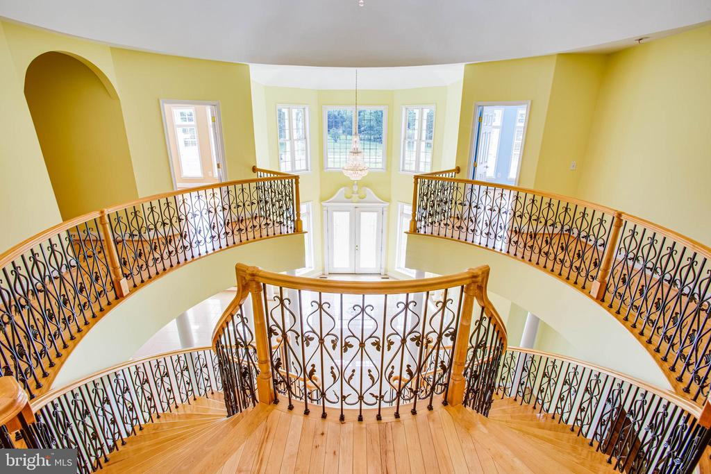 Staircase view from upstairs - 9649 LOGAN HEIGHTS CIR, SPOTSYLVANIA