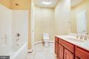 Bath with bedroom 1 - 9649 LOGAN HEIGHTS CIR, SPOTSYLVANIA