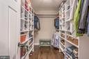 Master Bedroom walk-in closet w/ lots of shelving - 5000 27TH ST N, ARLINGTON