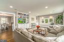 Family Room with built-ins & a sitting bay window - 5000 27TH ST N, ARLINGTON