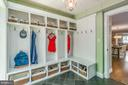 Mud Room with built-ins and side entry door - 5000 27TH ST N, ARLINGTON
