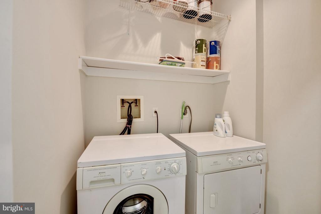 Full-size side-by-side washer and dryer - 1731 T ST NW #2, WASHINGTON