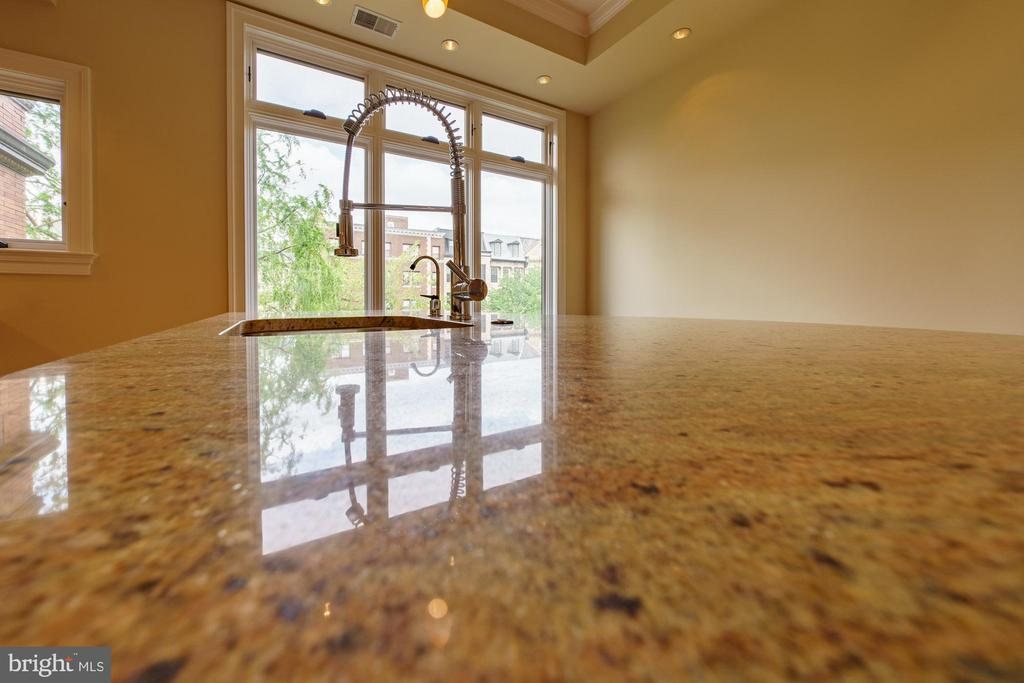 Granite Working Island with Stainless Steel Sink - 1324 FAIRMONT ST NW #B, WASHINGTON