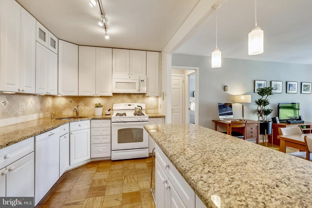 Ample counter space and cabinetry for storage - 4620 N PARK AVE #608W, CHEVY CHASE