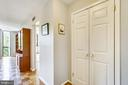Foyer with coat closet - 4620 N PARK AVE #608W, CHEVY CHASE