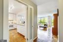 Open floor plan exposing kitchen and family room - 4620 N PARK AVE #608W, CHEVY CHASE