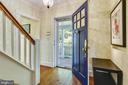 Entrance/foyer with original hardwood floors - 1002 MOSS HAVEN CT, ANNAPOLIS