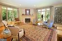 Corner fireplace and large transomed windows - 11331 BRIGHT POND LN, RESTON