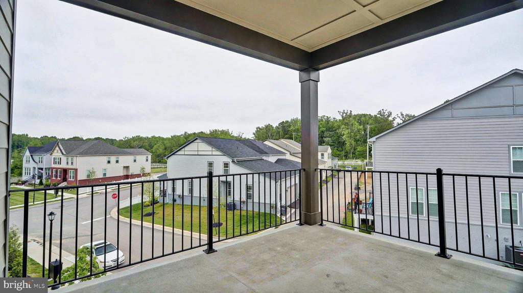 Private Master Balcony - 7843 OLIVET CT, ALEXANDRIA