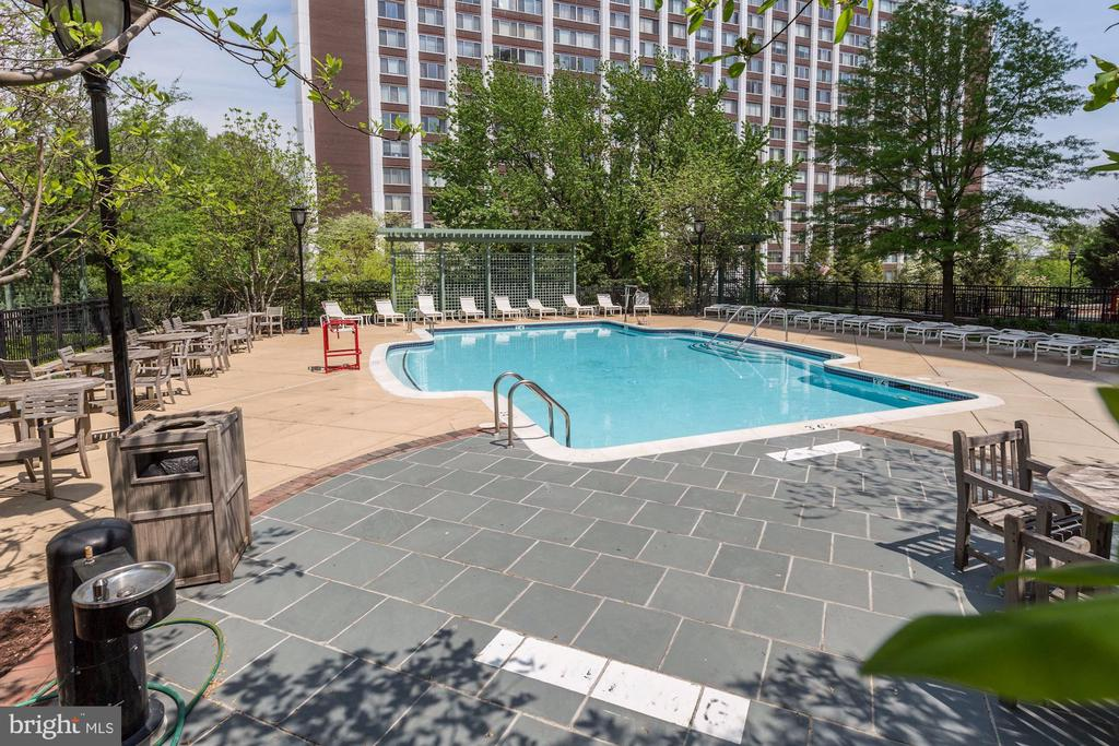 Community swimming pool - 11700 OLD GEORGETOWN RD #1113, NORTH BETHESDA