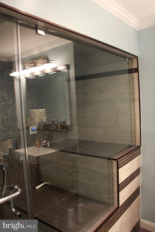 AMAZING Master bathroom.   Oversized steam shower. - 6061 ESTATES DR, ALEXANDRIA