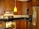 Upgraded kitchen--granite, SS apps, solid cabinets - 6061 ESTATES DR, ALEXANDRIA
