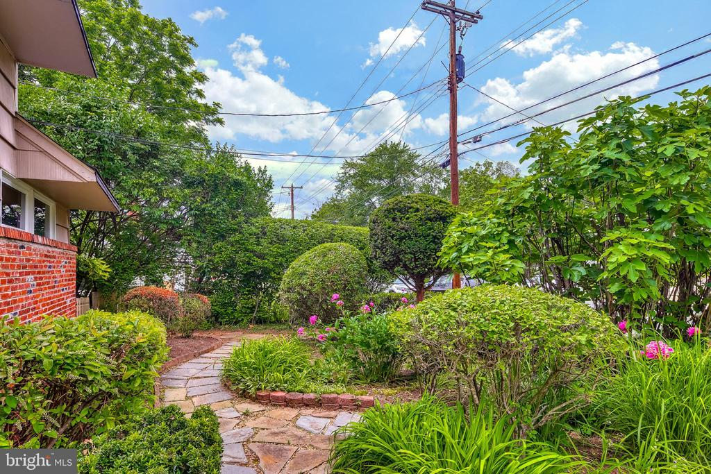 Lush landscaping is astounding - 322 MT VERNON PL, ROCKVILLE