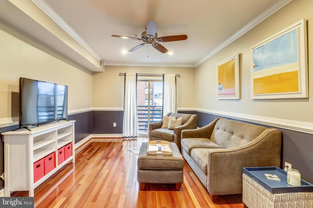 Bright and cozy living room with balcony access - 1321 EUCLID ST NW #302, WASHINGTON