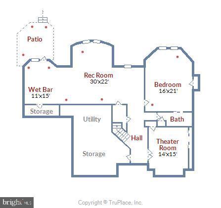 Lower Level Floor Plan - 43554 FIRESTONE PL, LEESBURG
