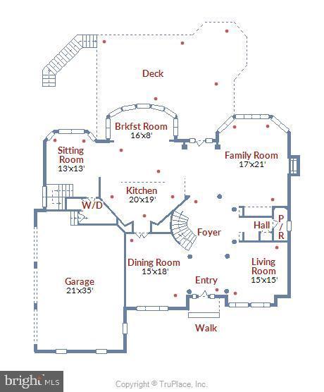 Mail Level Floor Plan - 43554 FIRESTONE PL, LEESBURG
