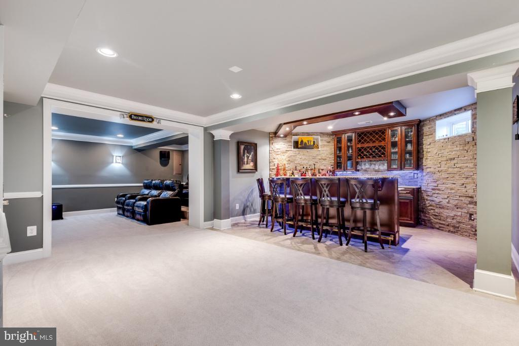 Custom Wet Bar with Upgraded Cabinetry - 21921 SILVERDALE DR, ASHBURN