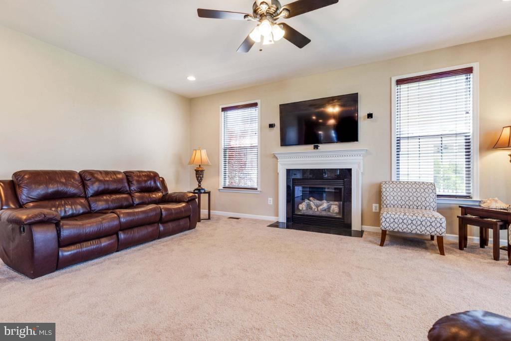 Family Room with Built-in Gas Fireplace - 21921 SILVERDALE DR, ASHBURN