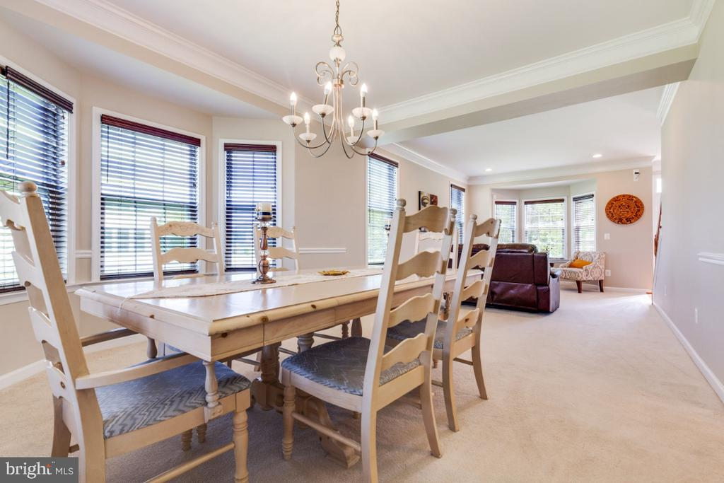 Formal Dining Room with Bay Window - 21921 SILVERDALE DR, ASHBURN
