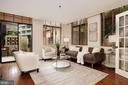 Bright living room with SGD to private terrace - 1312 MASSACHUSETTS AVE NW #109, WASHINGTON
