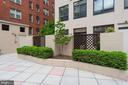 rear exterior of private terrace - 1312 MASSACHUSETTS AVE NW #109, WASHINGTON