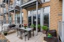 One of the very few units with private patios - 1390 V ST NW #209, WASHINGTON