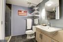 Modern bath with large shower - 1390 V ST NW #209, WASHINGTON