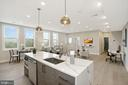 Kitchen island with pendant lights - 1821 I STREET NE #13, WASHINGTON