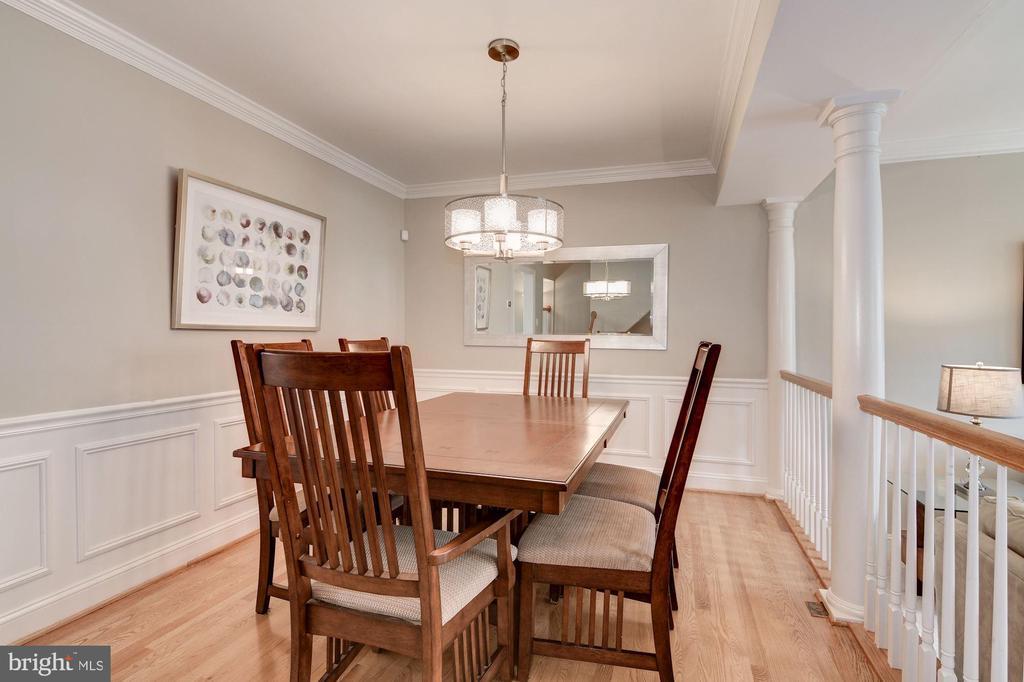 Dining Room with Hardwood Floors - 7513 COLLINS MEADE WAY, ALEXANDRIA