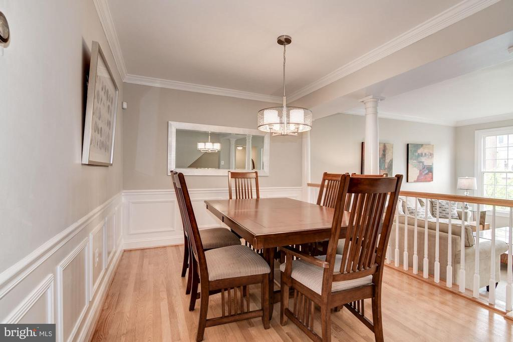 Dining Room with Chair Railing and Crown Molding - 7513 COLLINS MEADE WAY, ALEXANDRIA