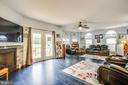 Family room with deck access - 2227 COUNTRY RD, BEAVERDAM