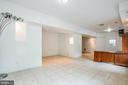 Recreation Room in Lower Level - 2227 COUNTRY RD, BEAVERDAM