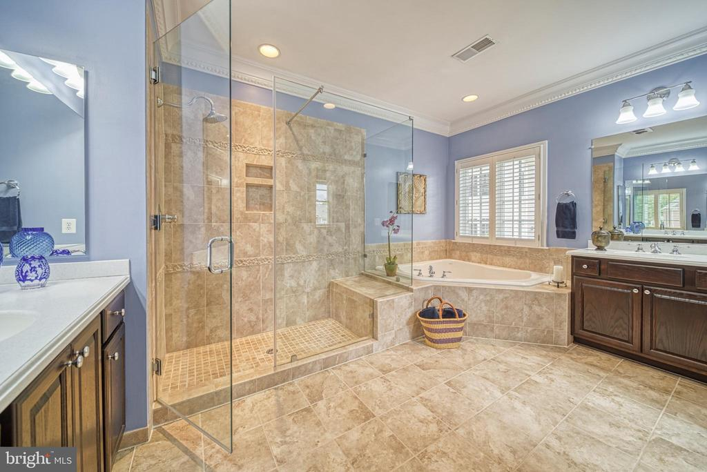 Owner's Suite Bath. Amazingly Large Shower - 6745 DARRELLS GRANT PL, FALLS CHURCH