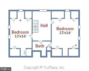 Upper level 2 floorplan - 2407 KING ST, ALEXANDRIA