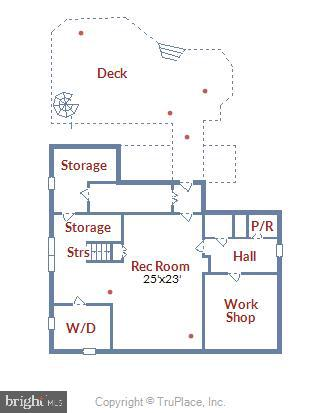 Lower level floorplan - 2407 KING ST, ALEXANDRIA