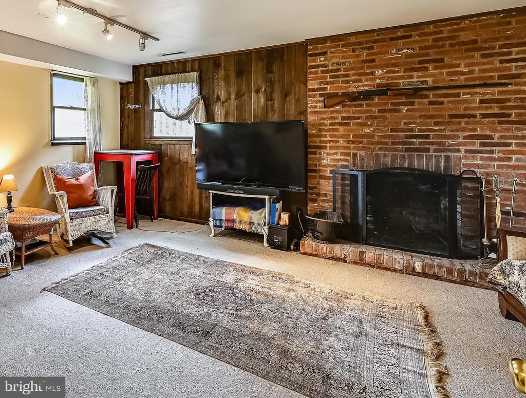 Family room with cozy fireplace. - 508 STATE ST, ANNAPOLIS