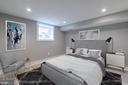 Bedroom 4 - Lower Level - Virtually Staged - 1421 NORTH CAROLINA AVE NE, WASHINGTON