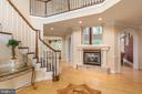 Two-story foyer with custom hardwood pattern - 3242 FOXVALE DR, OAKTON